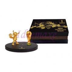Brazil 2014 World Cup Trophy and Mascot - 80mm