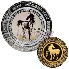 Wishing You A Speedy Success Gold and Silver Coins Set-D005