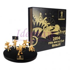Brazil 2014 World Cup Mascot Figurines set- 45mm